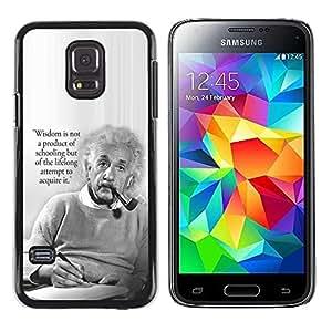 TopCaseStore / la caja del caucho duro de la cubierta de protección de la piel - Science Quote Smart Man - Samsung Galaxy S5 Mini, SM-G800, NOT S5 REGULAR!