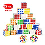 Mini Cube, INTEGEAR Puzzle Party Toy (24 Pack), 1.37 inch Party Favor Puzzle Game Set School Supplies for Girls Boys. 3.5cm Magic Brain Teaser Cube Goody Bag Filler Birthday Favor Gift