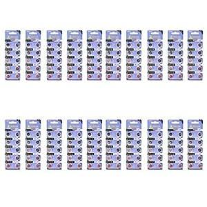 N5 Tianqiu AG12 / 386A / LR43 1.55V Pila alcalina botón de la célula - Plata (20 paquetes / 200 PCS)