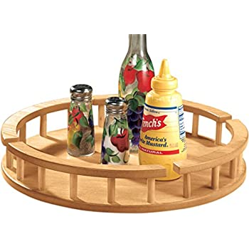 large wood lazy susan serving trays