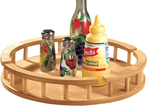 Large Wood Lazy Susan Serving
