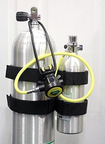 SoprasSub Bailout Pony Bottle Kit with Tank Strap Attachment 13 cf Tank Gauge Regulator Spare Backup Air Scuba Dive Egressor