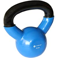 GYMENIST Iron Exercise Kettlebell, Vinyl Coated, Fitness Body Workout Equipment Kettle Bell, Choose Your Weight Size