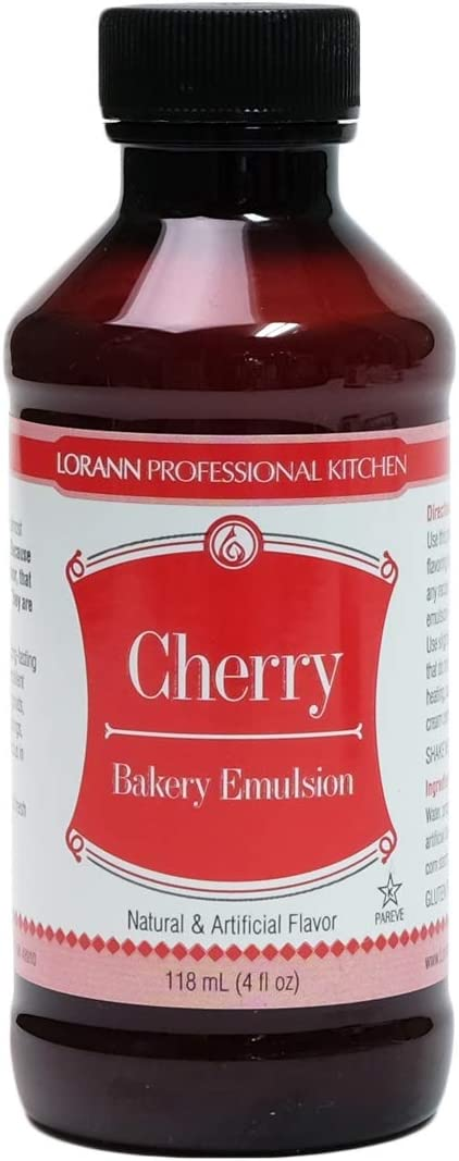 Lorann Oils 0806-0774 Bakery Emulsions Natural & Artificial Flavor 4oz-Cherry