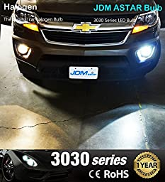 JDM ASTAR Extremely Bright 3030 Chipsets H11 H8 LED Bulbs for DRL or Fog Lights, Xenon White