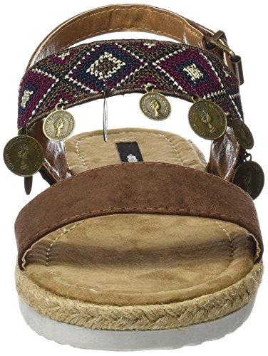 MTNG Collection Ele, Sandalias con Punta Abierta para Mujer Varios colores (Etnico Multicolormicrofibra MOKA)