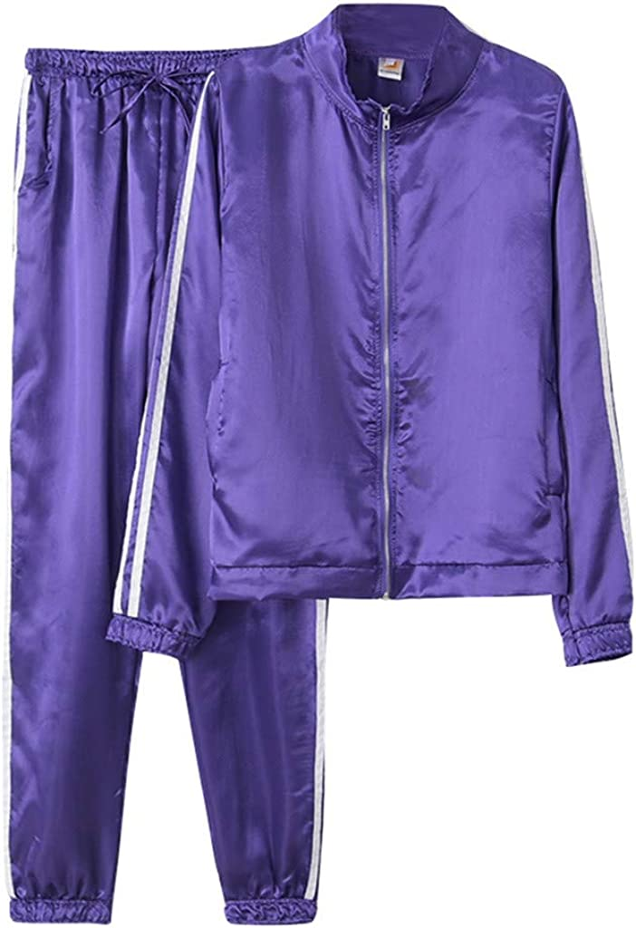 ABCone Felpe Donna Tumblr con Cerniera 2 Pezzi Tuta Donna Sportiva Pantaloni Tuta da Ginnastica Tinta Unita Donna Abbigliamento Donna Elegante Giacche Donna Primavera Cappotto Pullover Tops