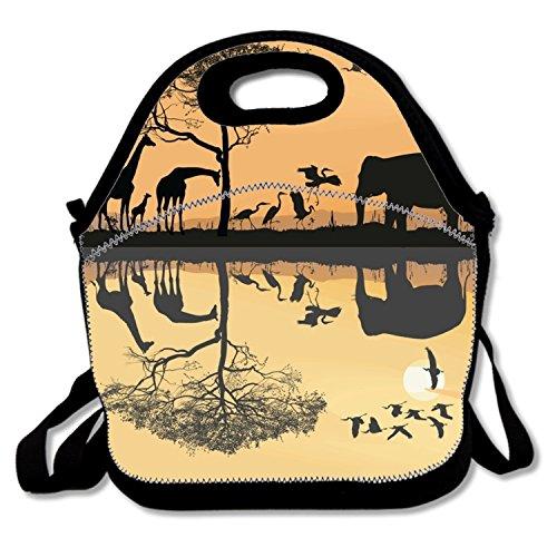 Savana Bag - Durable Lunch Box Savana With Giraffes Lunch Bag Waterproof For Women