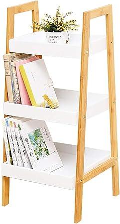 Hongseshujia Estantería Tipo De Piso De Madera Maciza Escalera Pared Trapezoidal Pequeña Estantería Tres Capas También Se Pueden Usar como Estante (Tamaño : 34x30x75cm): Amazon.es: Hogar
