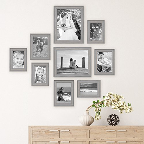 9 Piece Set of Picture Frames in Scandinavian Country-House Style