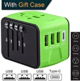 simpletech power adapter - Type C Worldwide Travel Adapter with USB by Guez Products   International Power Adapter for iPhone, Samsung and more   Travel Charger USB C 2.4A Smart Charge USB And 3.0A Type-C Port   Green