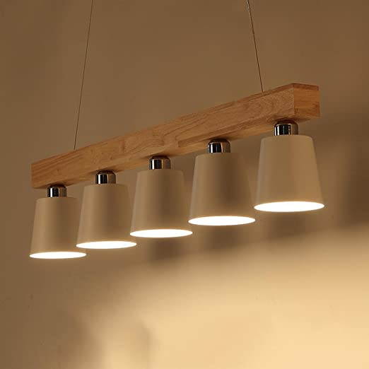 ZXZ-GO Lámparas de Techo LED de Madera Lámpara de Techo ...