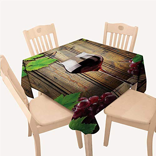 Winery tablecloths for Kids Wine Glasses and Grapes