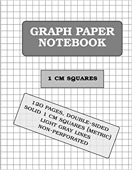 graph paper notebook 1 cm squares metric 120 pages graph paper
