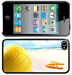 iphone covers Apple Iphone 6 4.7 4G Black 4B27 Hard Back Case Cover Color Volleyball Beach Sandals