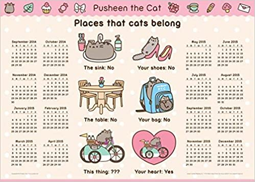 Pusheen the Cat Calendar Poster[CAL 2014-PUSHEEN THE CAT ...