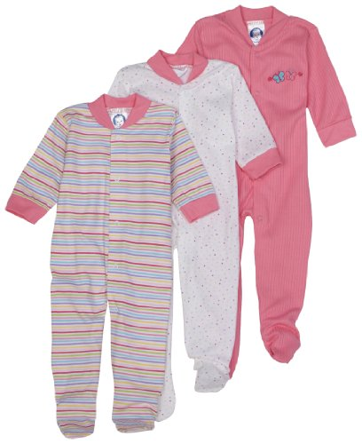Gerber Snap Front Sleep 'N Play, 3 Pack, Newborn