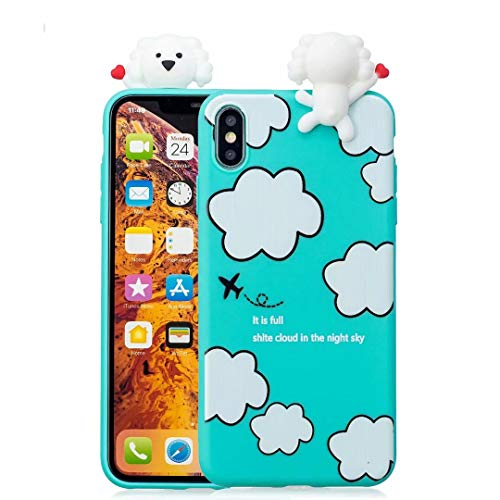 iPhone Xr Case for Kids Girls Teen boy Guys, Tznzxm Funny 3D Cartoon Animal Character Design So Cute Lovely Soft Silicone Protective Scratch-Resistant Case for Apple iPhone Xr 6.1 inch ()