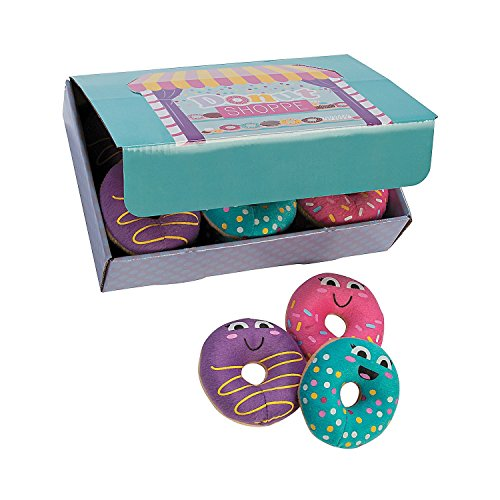 Box of 12 Plush Donut Party Donuts with Donut shop Box included (The Donut Box)
