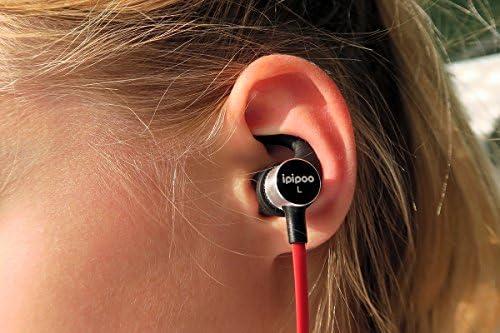 Bluetooth auriculares, Ipipoo por Awei il92bl negro rojo
