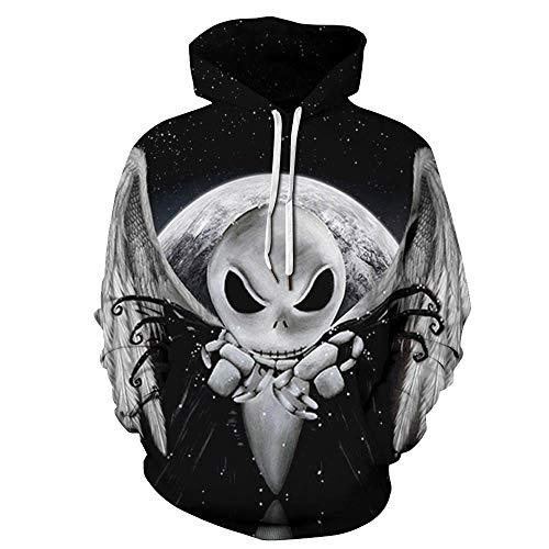 SAINDERMIRA Unisex Fashion 3D Digital Galaxy Pullover Hooded Hoodie Sweatshirt Athletic Casual with Pockets (E.T, Small/Medium) ()