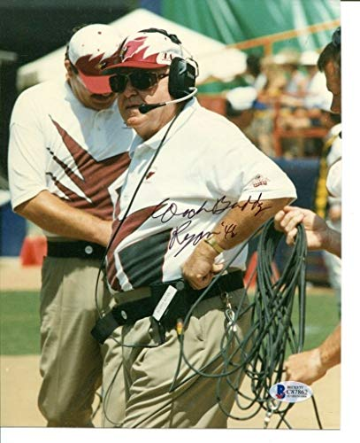 Buddy Ryan Signed Photo 8x10 Autographed Cardinals Beckett BAS C87862