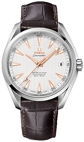 0d91c1858 Image Unavailable. Image not available for. Colour: Omega Seamaster Aqua  Terra 150M Co-Axial Men's Automatic Watch with Silver Dial Analogue Display
