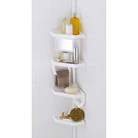 Amazon.com: 4-Shelf Bathroom Storage Caddy, White: Home & Kitchen
