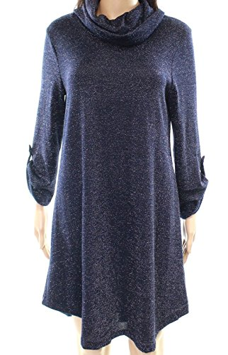 Bailey Blue Women Small Cowl-neck Shimmer Sweater Dress Blue S 4661c8828