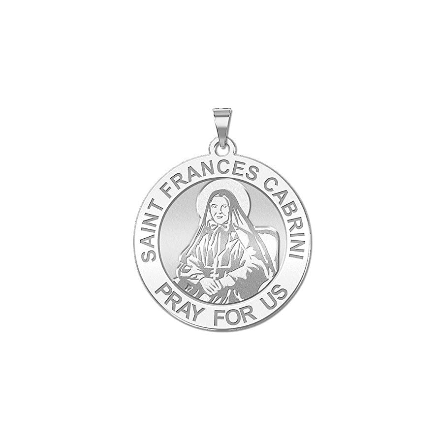 PicturesOnGold.com Saint Frances Cabrini Religious Medal 10K And14K Yellow or White Gold, or Sterling Silver