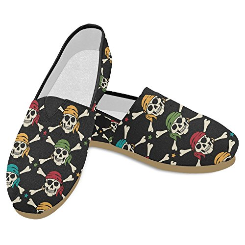 Rentprint Dames Loafers Classic Casual Canvas Slip Op Mode Schoenen Sneakers Mary Jane Flat Pirates 1
