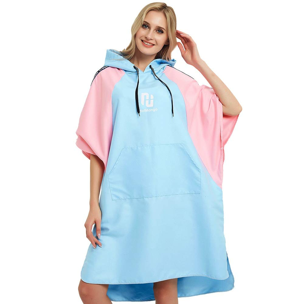 Aiyawear Womens Poncho Towel Bath Towel Bathrobe Microfiber Beach Towel Can Wear Quick Dry Water Swimming Diving Red Magic Wetsuit Changing Towel Robe (Color : Blue, Size : One Size) by Aiyawear