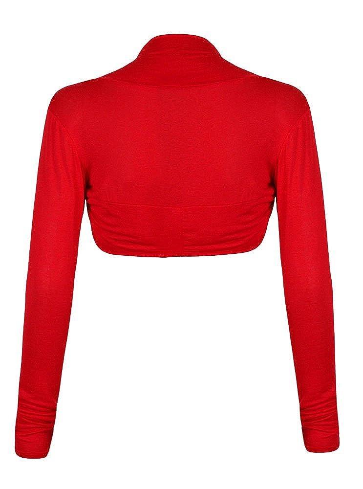 Fast Fashion tinta unita coprispalle maniche lunghe bolero da donna taglie comode