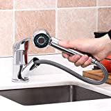KAIMA Kitchen Faucet Single Handle Pull Out Sprayer Stainless Steel Sink Faucet Commercial Chome Finished Modern Upgrade