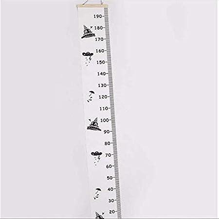 Medidor de Altura Colgando en la Pared Creativo Blanco y Negro Inherited Tabla de crecimiento del beb/é,Tabla de crecimiento para colgar en la pared Lienzo Gr/áficos de crecimiento