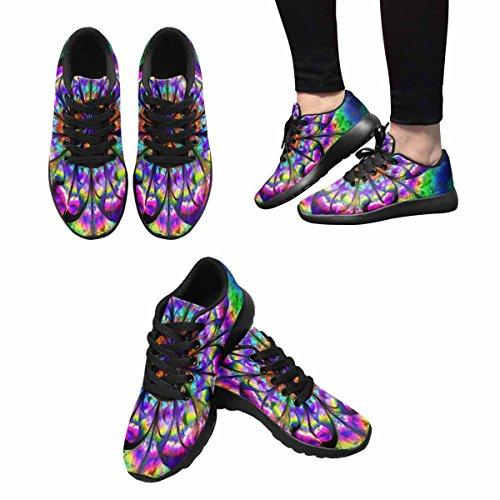 Scarpe Da Corsa Trail Running Donna Jogging Leggero Sportivo A Piedi Sneakers Atletiche Fiore Psichedelico Mandala In Colori Arcobaleno Multi 1