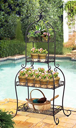 Sunjoy 4-Tier Metal Plant Stand (4 Tier Metal Plant Stand)
