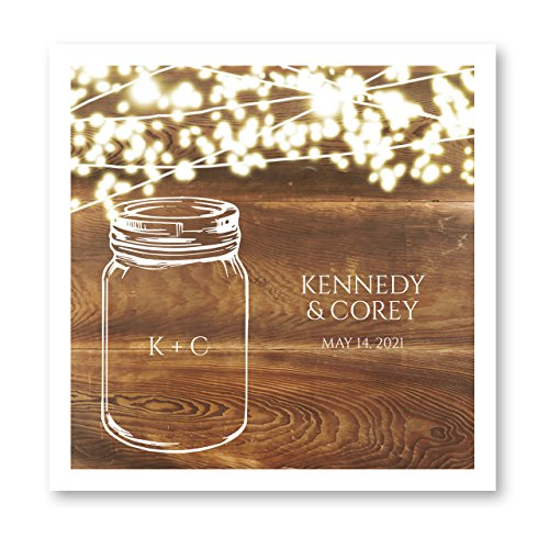 Country Sparkler Personalized Luncheon Napkins - 100 White Paper Uncoined Napkins with a Choice of Ink. 6 1/2'' x 6 1/2'' Folded, Made in The USA -