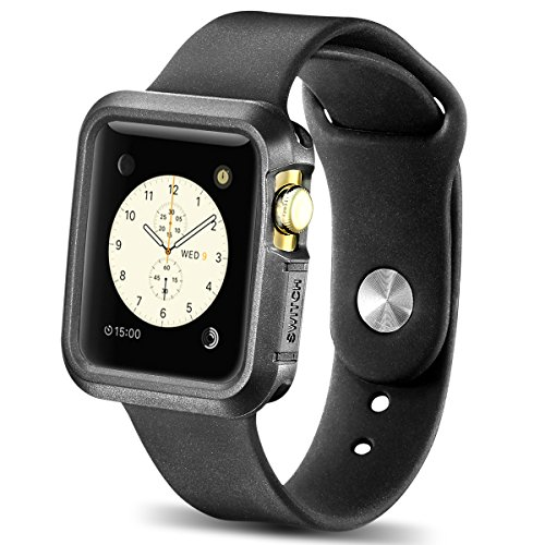 Lorica Strap - Apple Watch Case, New Trent TPU Cases for Apple Watch/Watch Sport/Watch Edition 2015 Release 42 mm