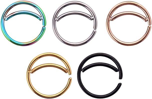 Amazon.com: 5 anillos de nariz de acero inoxidable para ...