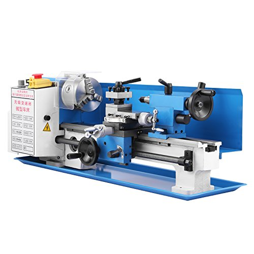 1. Top horn Metal Lathe 8x16 Inch Precision Mini Lathe 2500 RPM 750W Lathe with Digital Control System