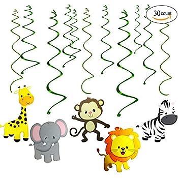 amazoncom safari zoo animal print balloons tiger