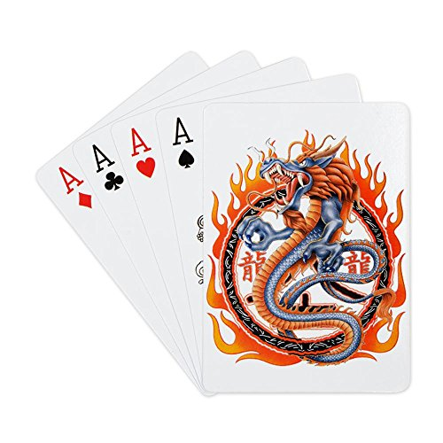 Playing Cards Deck Dragon in Ring of Flames