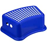 New Large Deluxe Kids Children Plastic Foot Step Stool Strong Anti-Slip - in Blue / Pink / Baige by Home Connection