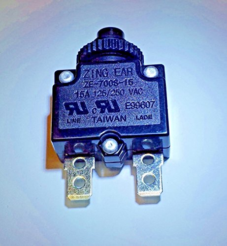 CBK Supply - ZE700S-15A ZingEar thermal circuit breaker replace Airpax; Carling; JoeMex; - 15a Replace Breaker Circuit