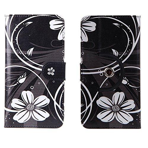 Doogee BL5000 Cartera Funda Carcasa flores | 360° Wallet Case Protección innovadora de la cámara - K-S-Trade (TM)