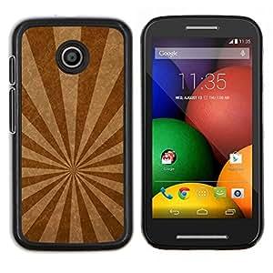 Caucho caso de Shell duro de la cubierta de accesorios de protección BY RAYDREAMMM - Motorola Moto E - Líneas de emisión de textura
