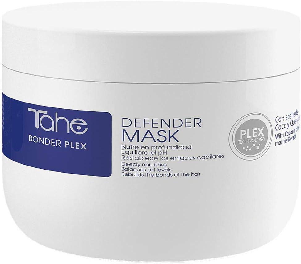 Tahe Bonder Plex Mascarilla para el Pelo Defender Con aceite de Coco y Queratina marina, 300 ml. Nutre en profundidad, Equilibra el pH y Restablece los enlaces capilares