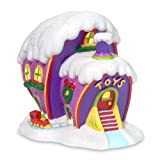 #5: Department 56 Grinch Village Who-Ville Toy Store Lit House Figurine, 7.48 inch