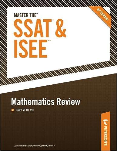 Ebook torrent download Master the SSAT/ISEE: Mathematics Review: Part VI of VII em português PDF RTF